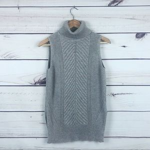 BLUE RAIN (Anthro) Cable Knit Sleeveless Sweater S